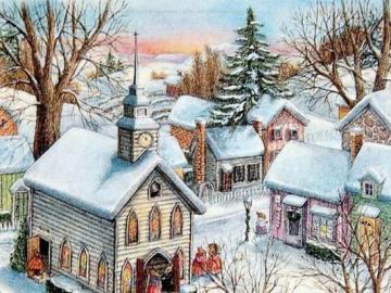 Χειμερινή εικόνα - Πόλη το χειμώνα, εικόνα