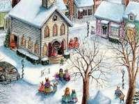 Photo d'hiver - Une ville en hiver, une photo