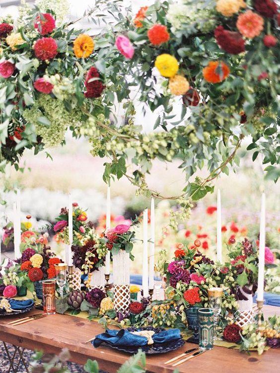 Vadvirágok dekorációként - Esküvői asztaldísz, mező virágok (8×9)
