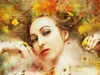 Paní podzim, podzimní listí