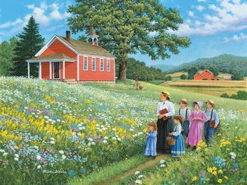 Nature lesson. - Rural landscape. nature lesson.