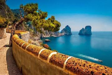 sea ​​View - view of the sea, blue sky, Capri, rest