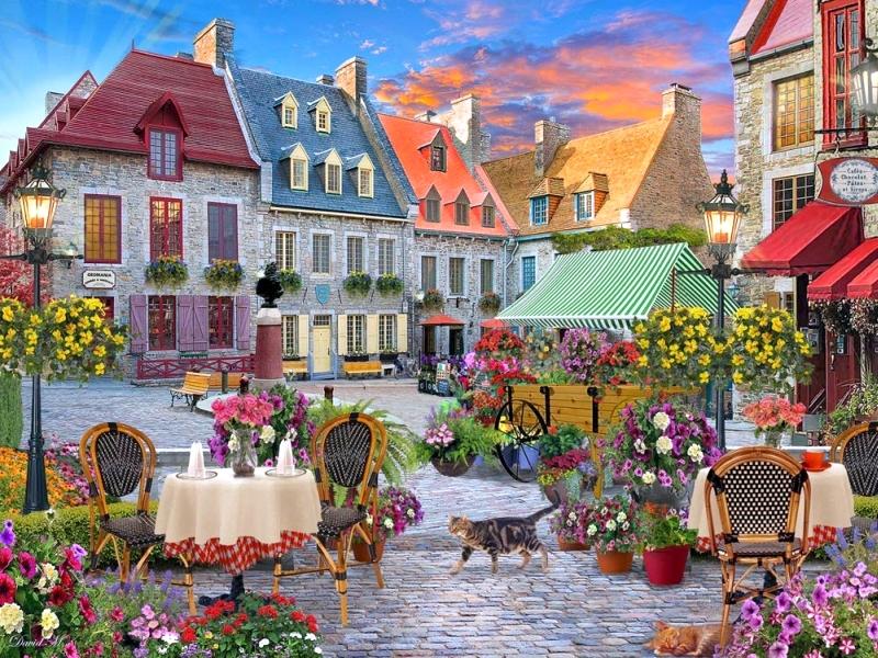 Στην αγορά - Στην αγορά μιας μικρής πόλης (12×8)