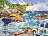 A rescue operation in the bay. - A rescue operation in the bay. Wonderful puzzles.