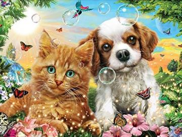 Little dog with a cat. - For children. Little dog with a cat.