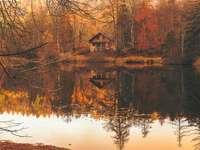 Huisje in de herfst