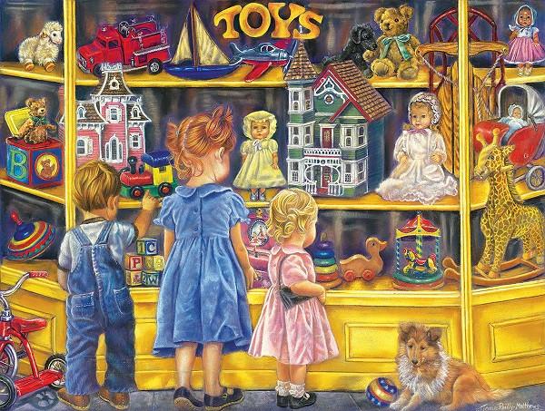 Μπροστά από ένα κατάστημα παιχνιδιών (6×7)