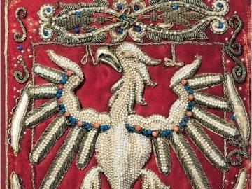 Orzeł godło. - Orzeł godło haft wykonany przez Annę Jagielonkę.