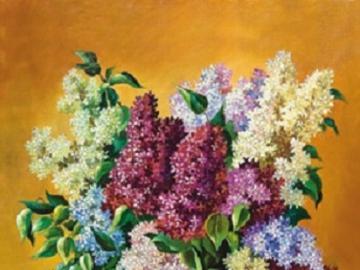 Bouquet de lilas. - Bouquet de lilas coloré.
