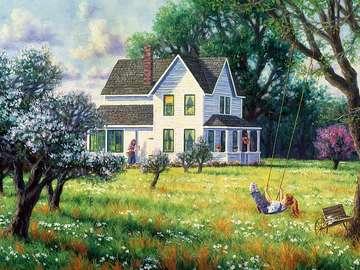 Spring in bloom. - Art. Painting. Spring.