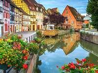France-Colmar. - Francouzské město Colmar.