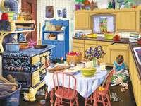 Cozinha rural. - Interior de uma cozinha rural.