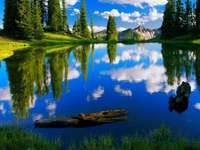 lac moraine - vedere fabuloasă - Vacanță, petrecere a timpului liber, vizitarea obiectivelor turistice, vacanță, lac moraine