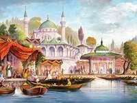 Истанбулска джамия. - Сграда. Джамия. в Истанбул.