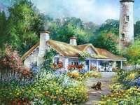 Къщата на пазителя на фара - Живопис. Къщата на пазителя на фара.