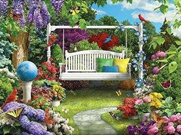 Huśtawka w ogrodzie. - Huśtawka w ogrodzie