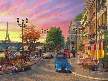 Na paryskiej ulicy. - Francja. Na paryskiej ulicy.