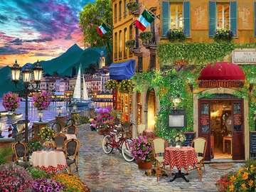Włoskie miasteczko -Gra ukladanka - Urocze włoskie miasteczko. Gra ukladanka dla każdego.