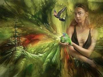 Papużki dwie - Papużki faliste żerują na ziemi, żywią się ziarnem. Zbierają się przy wodopojach w dużych l