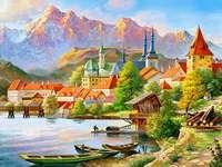Планински град.