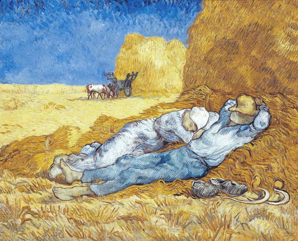 Van Gogh - LES SUJETS SONT DEUX PAYSANS REPOSANT (2×2)