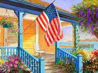 Maison américaine au bord du lac. - Maison américaine au bord du lac.