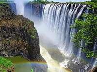 A wonderful waterfall. - A wonderful waterfall.