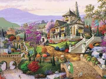Résidence rurale. - Puzzle: une résidence de campagne.