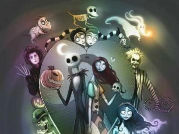 ameliedec - puzzle games - Tim Burton theme puzzles for children of late and early school age. Cool puzzle games.