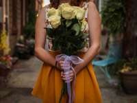 Букет - бели рози