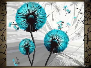 Dandelions . - Blue dandelions.