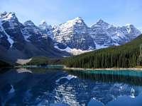Mare lac de morenă - Lacul Moraine este un tip de lacuri glaciare, format în coborârea dintre creșterile morrenelor fr