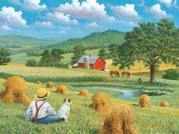 Rest after harvest. - Landscape. Rest after harvest.