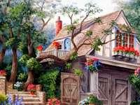 Ένα παραμυθένιο σπίτι ανάμεσα σε δέντρα