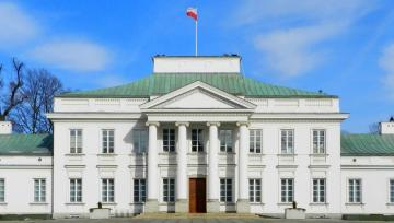 Belvedere in Warsaw during the day - Belvedere in Warsaw during the day. Belweder in Warsaw everyone must see. Belweder in Warsaw has an