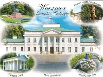 Pocztówka -  Belweder w Warszawie - Pocztówka -  Belweder w Warszawie i inne atrakcje. Belweder w Warszawie - Zwiedzanie jest bezpłatn