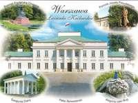 Пощенска картичка - двореца Белведере във Варшава