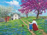 Paysage de printemps - Paysage de printemps à la campagne.