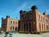 Stadhuis in Kołobrzeg, marktplein van Kołobrzeg