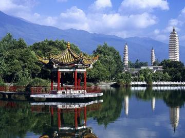 Chiński krajobraz. - Azja. Chiny. Krajobraz.