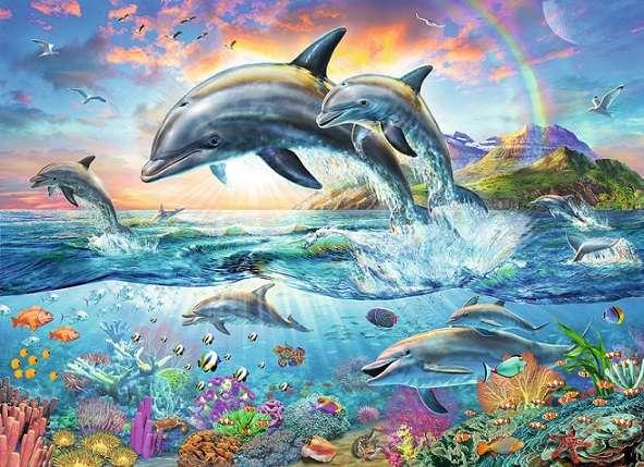 Παζλ με δελφίνια.