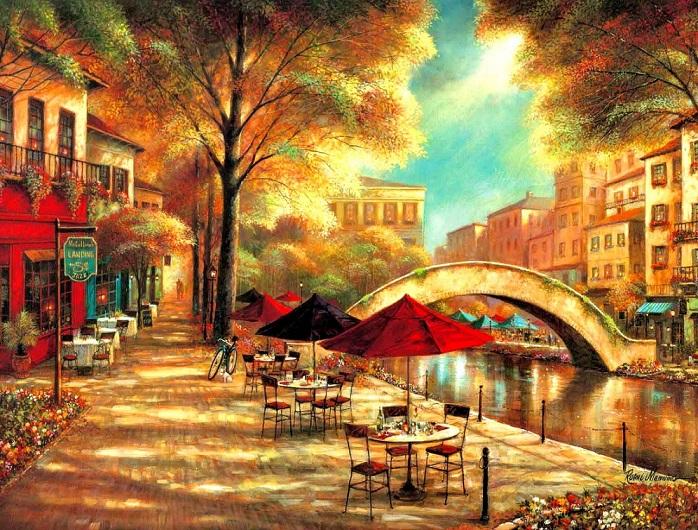 Városi táj - Festés. Városi táj (10×10)