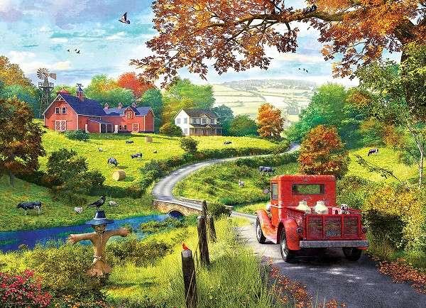 Vidéki táj - Puzzle: vidéki táj (11×9)