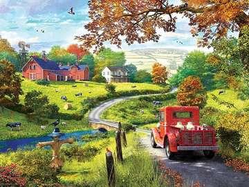 Wiejski krajobraz. - Układanka: wiejski krajobraz.