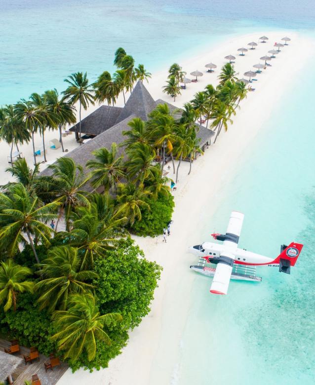 Veligandu Island Resort & Spa auf den Malediven - Die Malediven sind ein Archipel und ein gleichnamiger Inselstaat im Indischen Ozean, ca. 500 km südwestlich der Südspitze Indiens. Im 16. Jahrhundert versuchten die Portugiesen und Holländer, die I (8×12)