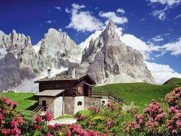 Hostel in the Dolomites. - Hostel in the Dolomites.