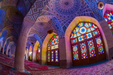 Pink mosque, Iran - The Pink Mosque is a mosque in Shiraz, southern Iran. It was built during the reign of the Kajar dyn