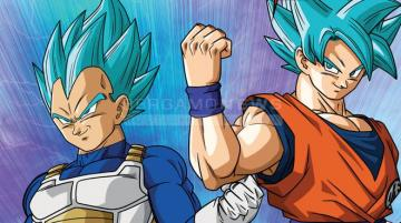 goku and vegeta - the eternal rivals, goku and vegeta represented in this image in the form of ssjb