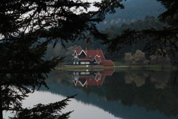 a house by the lake