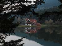 a house by the lake - A beautiful house by the lake.